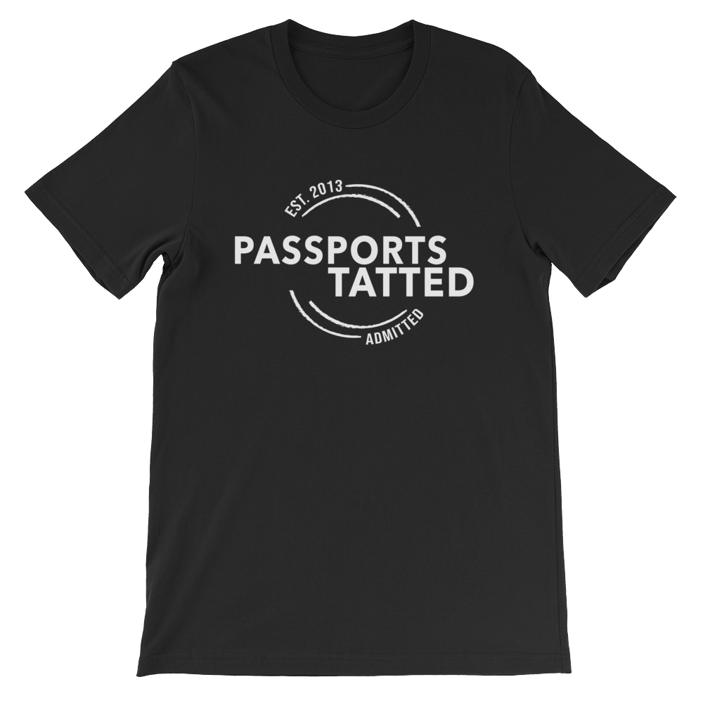 Image of Men's Passports Tatted T-Shirt (Black)