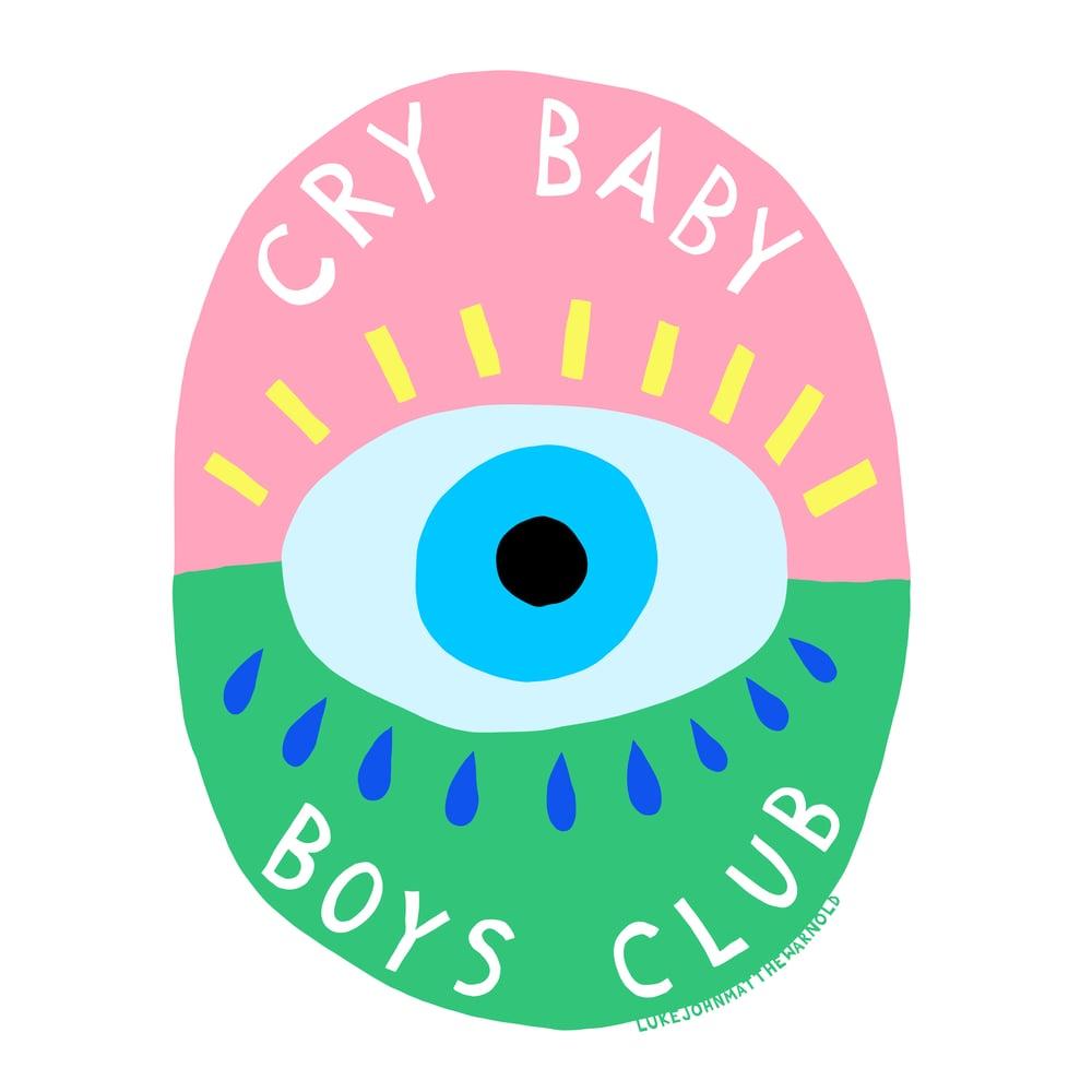 Image of Cry Baby Boy's Club Sticker