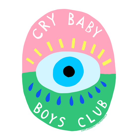Image of Cry Baby Boy's Club Sticker