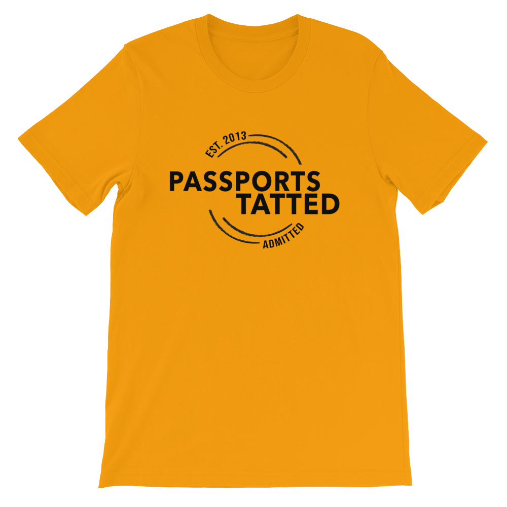 Image of Men's Passports Tatted T-Shirt (Gold)
