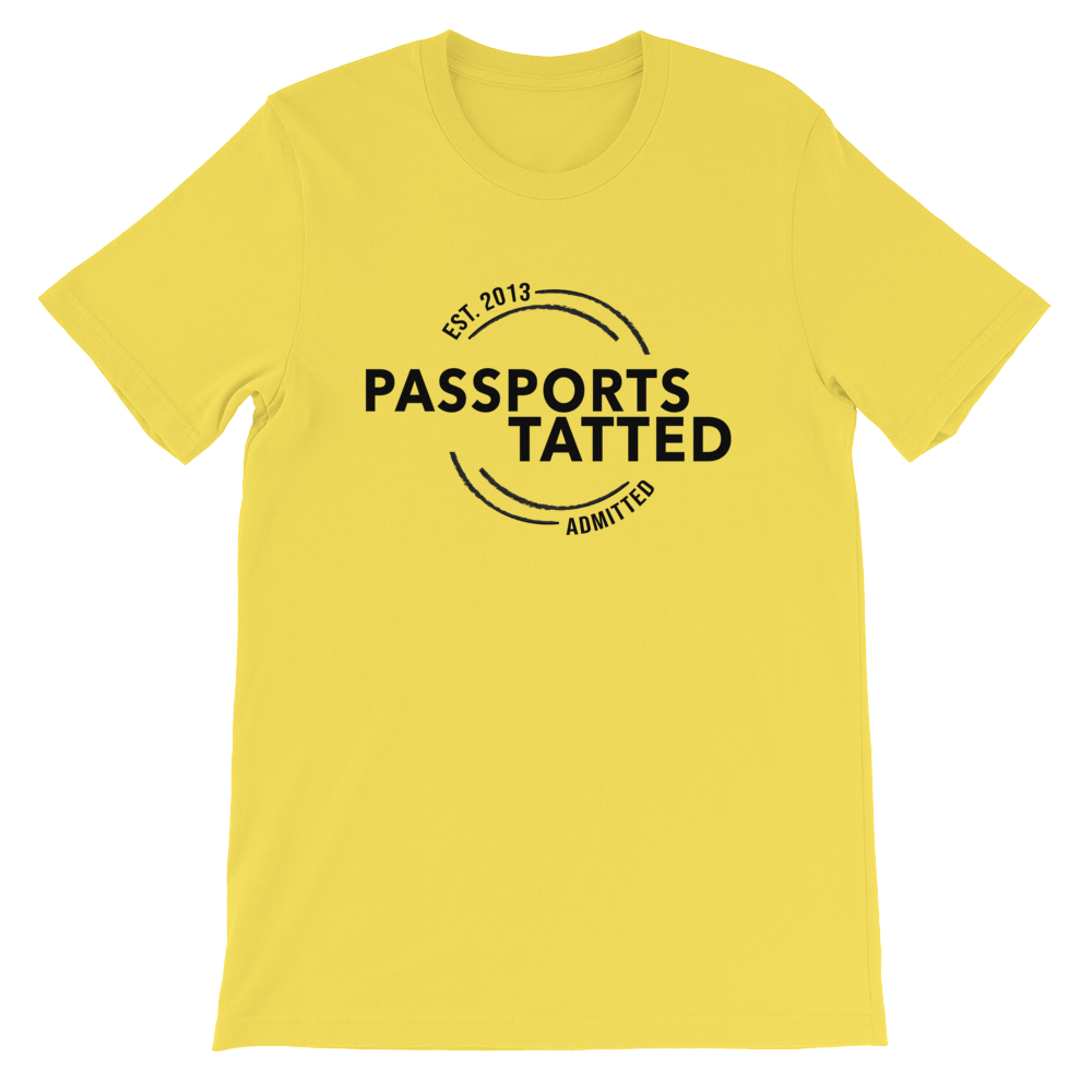 Image of Men's Passports Tatted T-Shirt (Yellow)