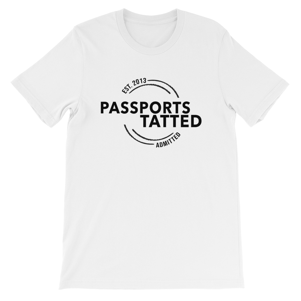 Image of Men's Passports Tatted T-Shirt (White)