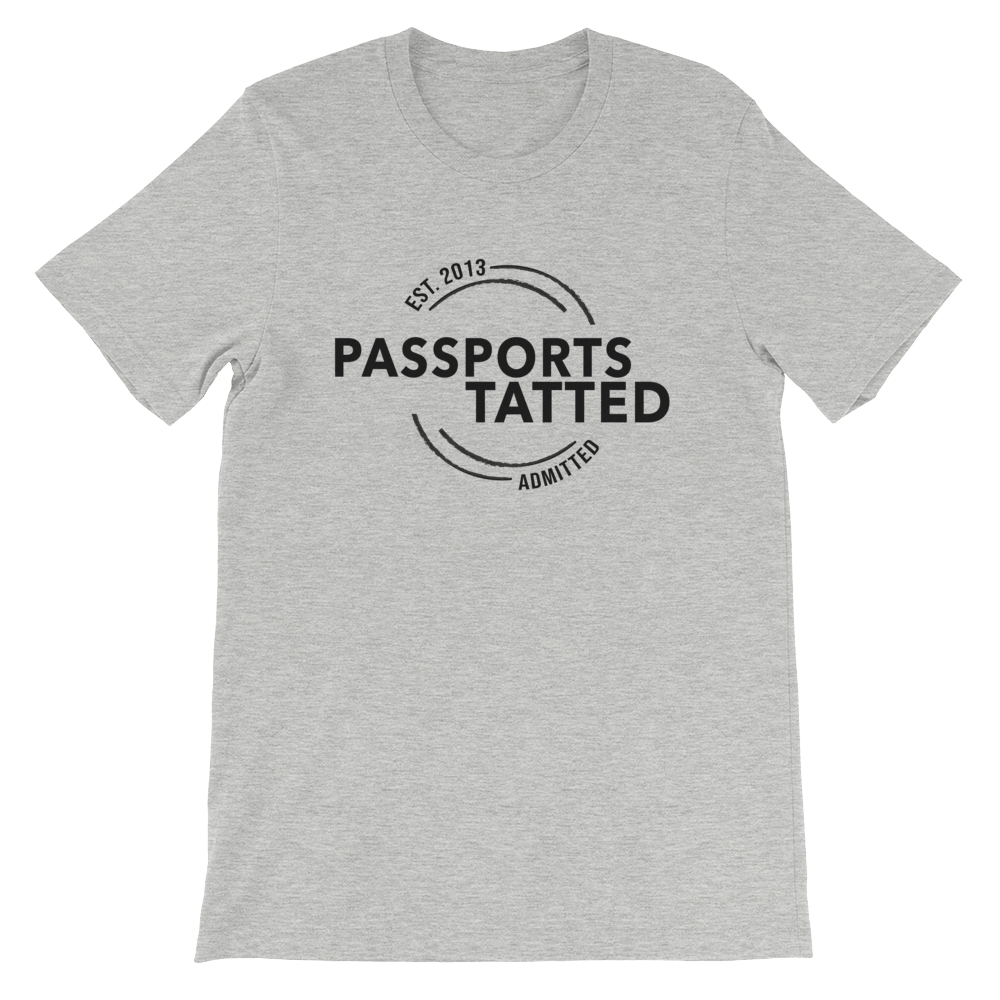 Image of Men's Passports Tatted T-Shirt (Grey)