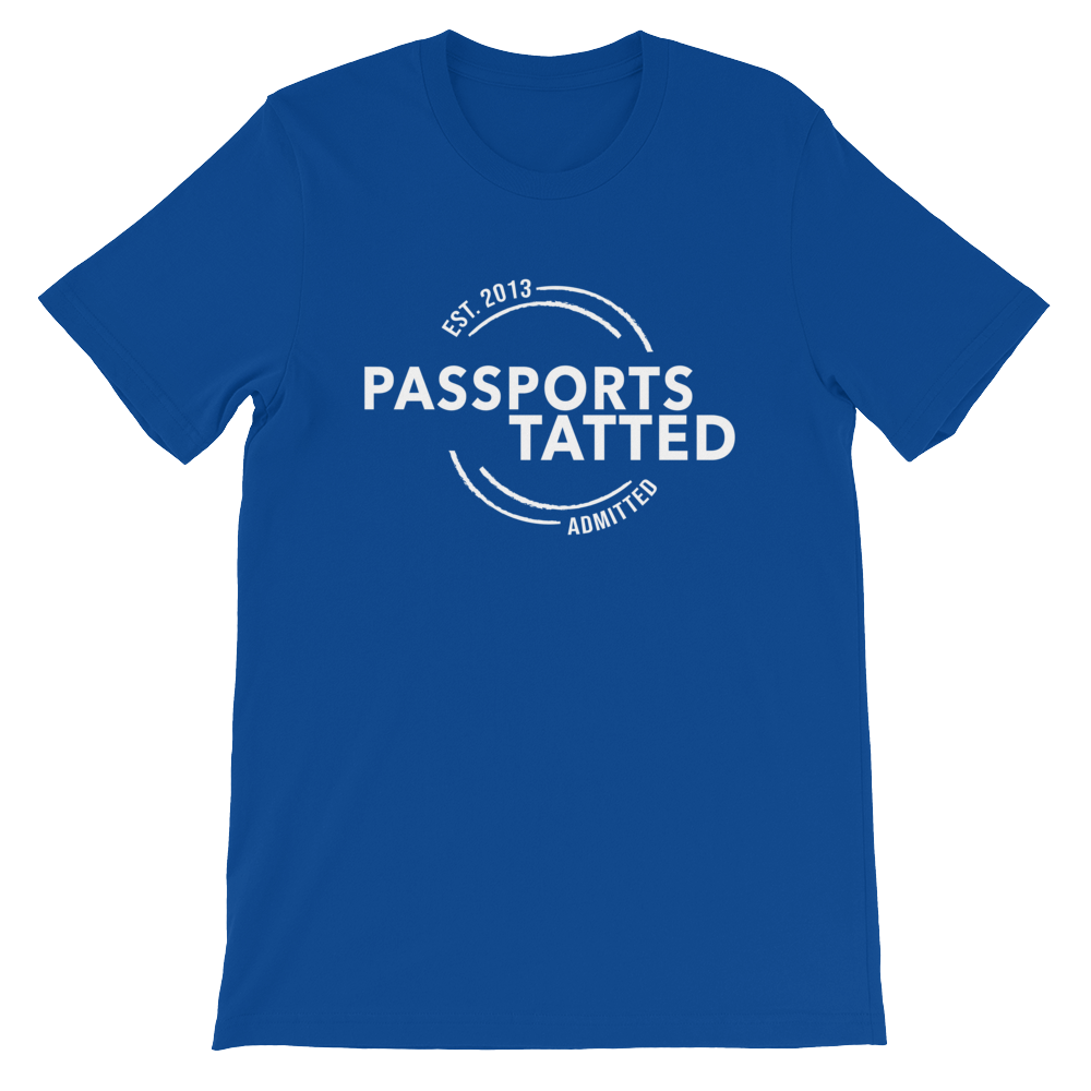 Image of Men's Passports Tatted T-Shirt (Blue)