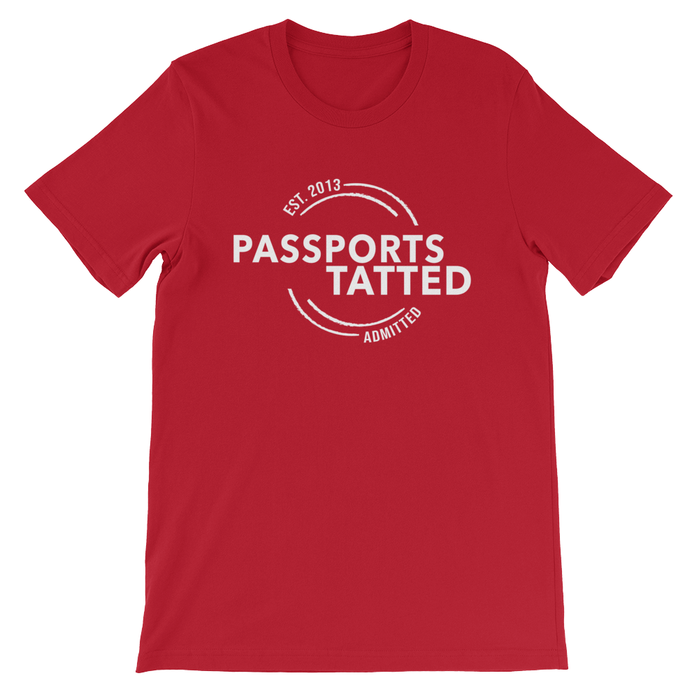 Image of Men's Passports Tatted T-Shirt (Red)