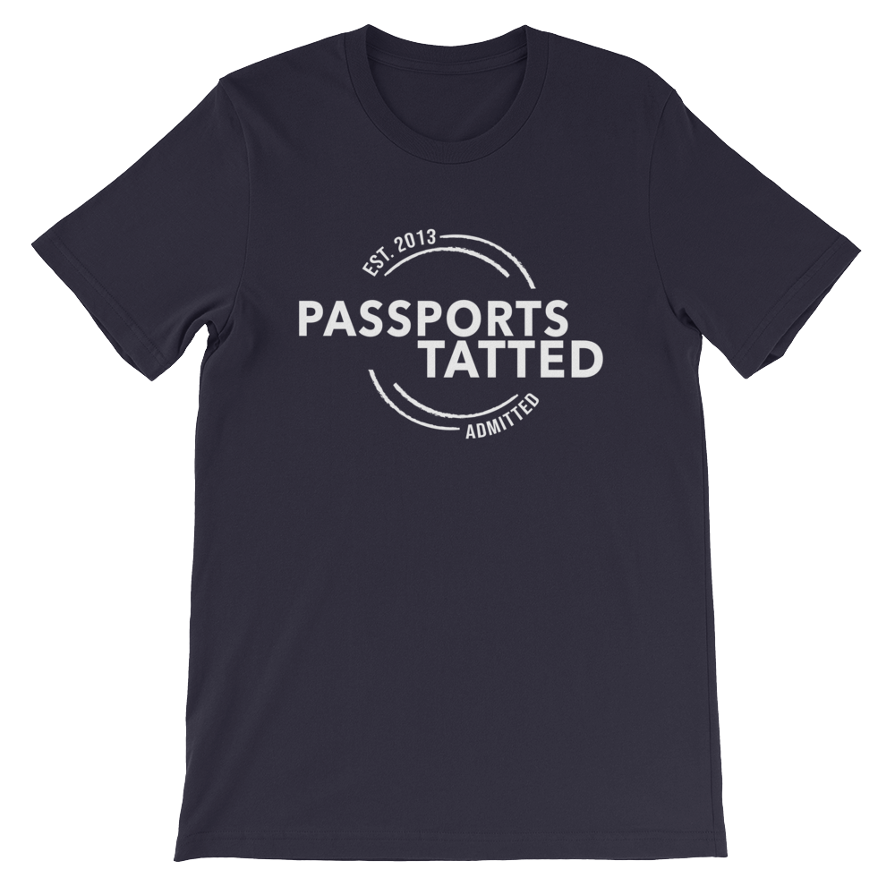 Image of Men's Passports Tatted T-Shirt (Navy)