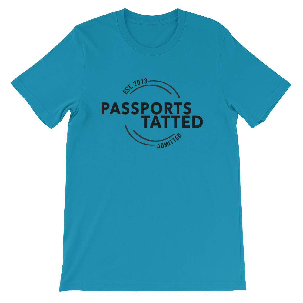 Image of Men's Passports Tatted T-Shirt (Aqua)