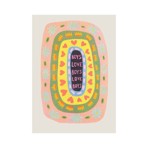 Image of Boys Love Boys (happy accident edition) Riso Print
