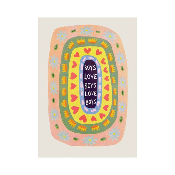 Image of Boys Love Boys Riso Print