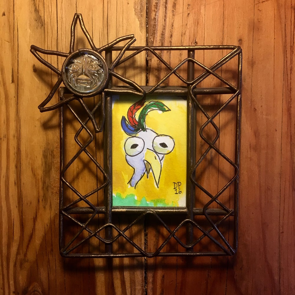 "Image of ""Stoney Bird"" original watercolor painting by Dan P."