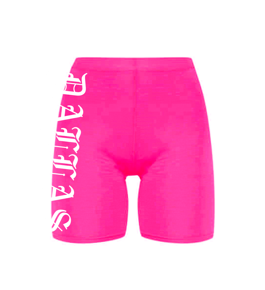 Image of DALLAS NEON PINK BIKE SHORTS