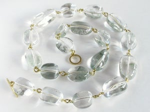 Image of Rock Crystal Nugget Necklace 18K Links