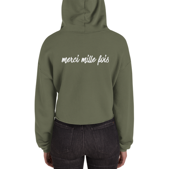 Image of Merci Mille Fois Cropped Hoodie