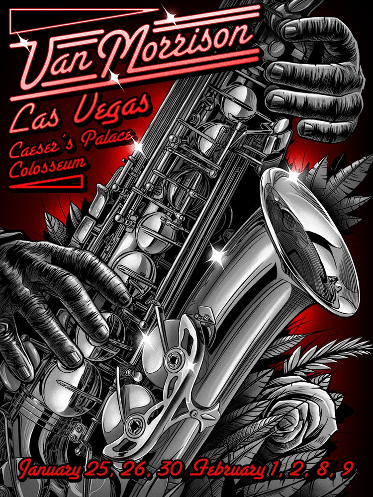 Image of Van Morrison Las Vegas Posters
