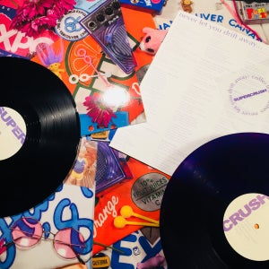"Image of SUPERCRUSH ""Never Let You Drift Away"" LP"