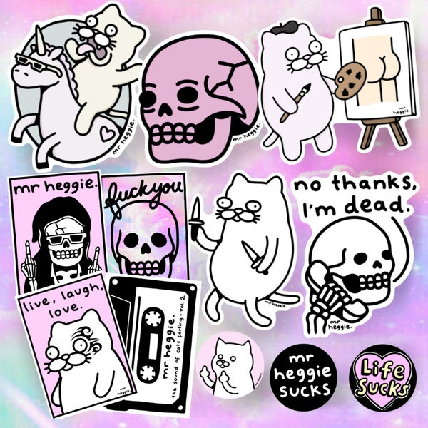 Image of The brand new sticker and pin pack 1
