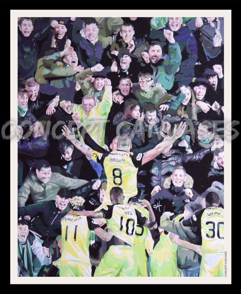 Image of (vertical) 'Football Without Fans Is Nothing' A3 Print