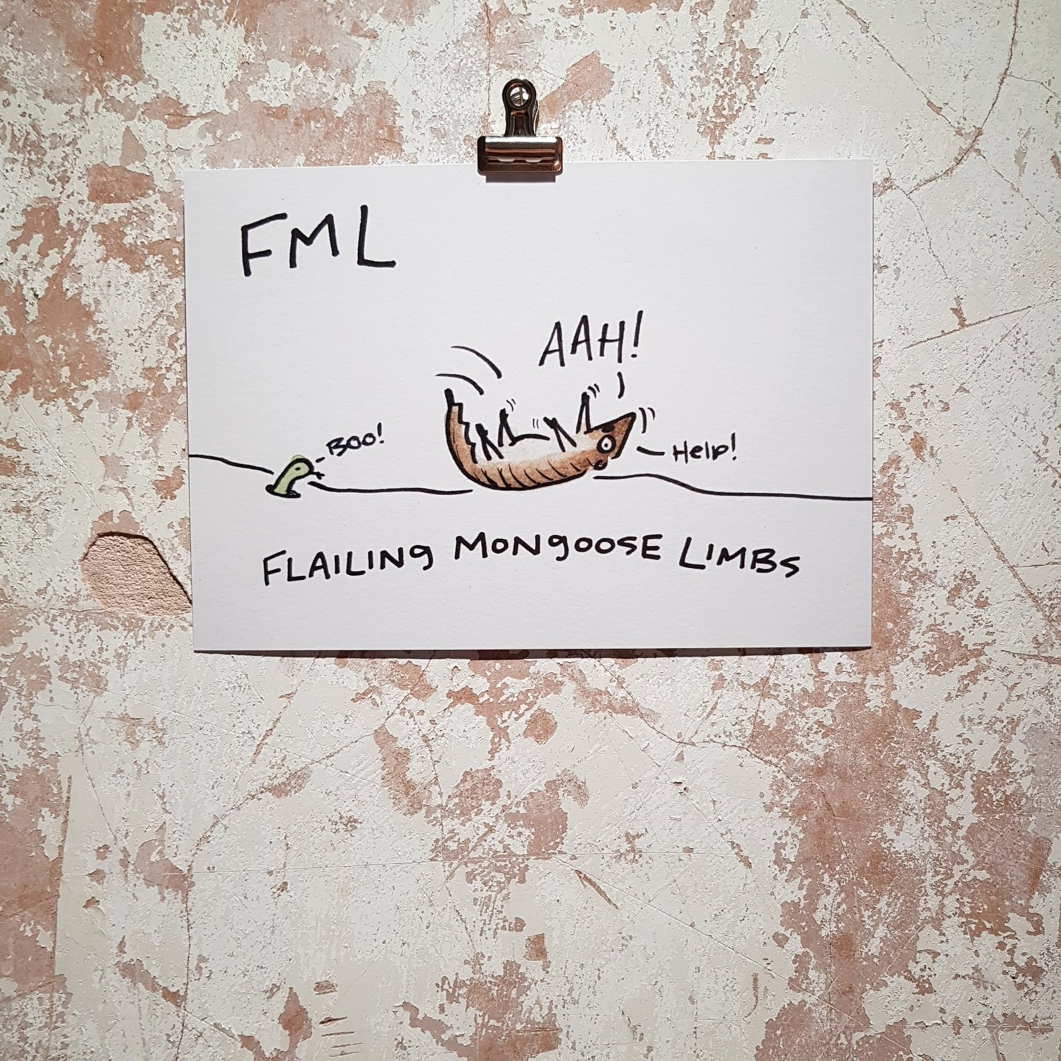 Image of FML Mongoose Print A5