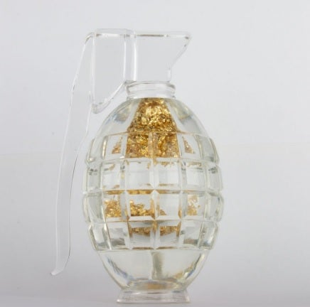 Image of Born To Kiln - The Spoils - Handmade Glass Sculpture filled with 22ct Gold Flecks - one of just 12