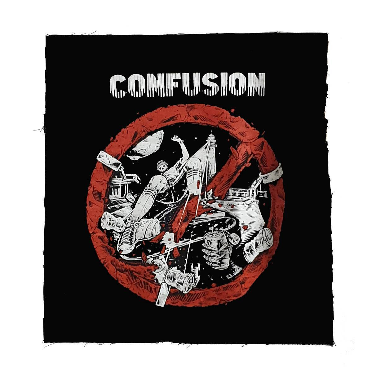 Image of Confusion - Breaking the Law (back patch)