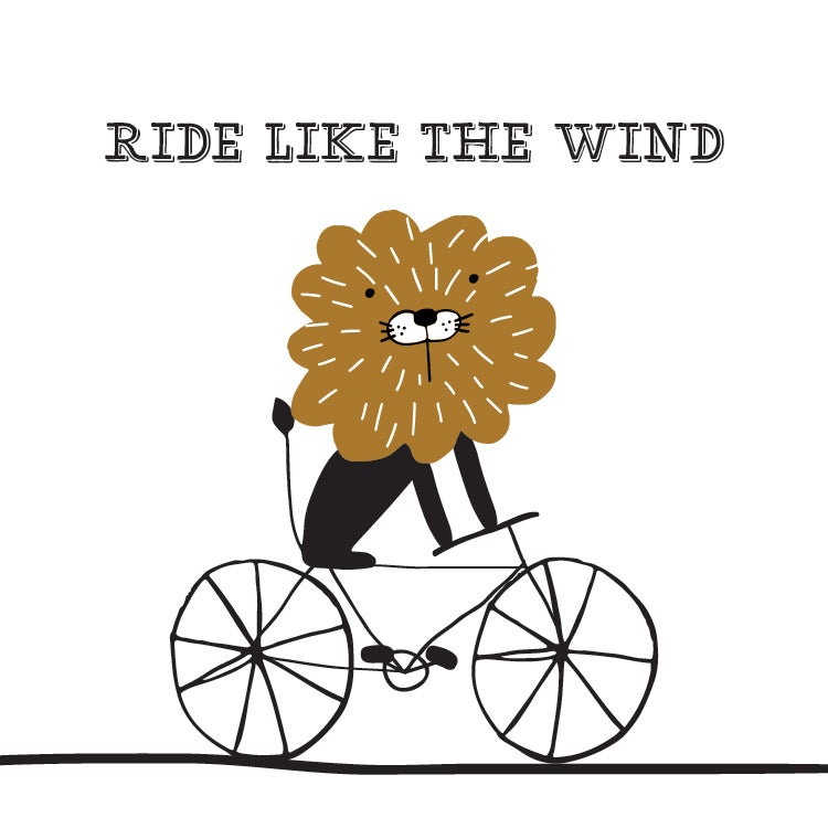 Ride Like the Wind Lion Print