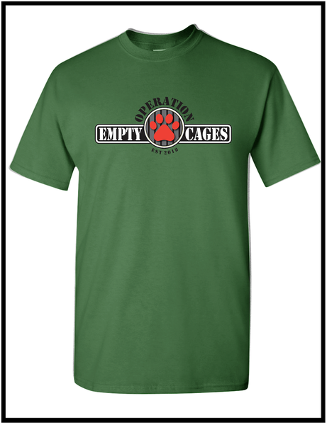 Image of Operation Empty Cages Military Green Tee