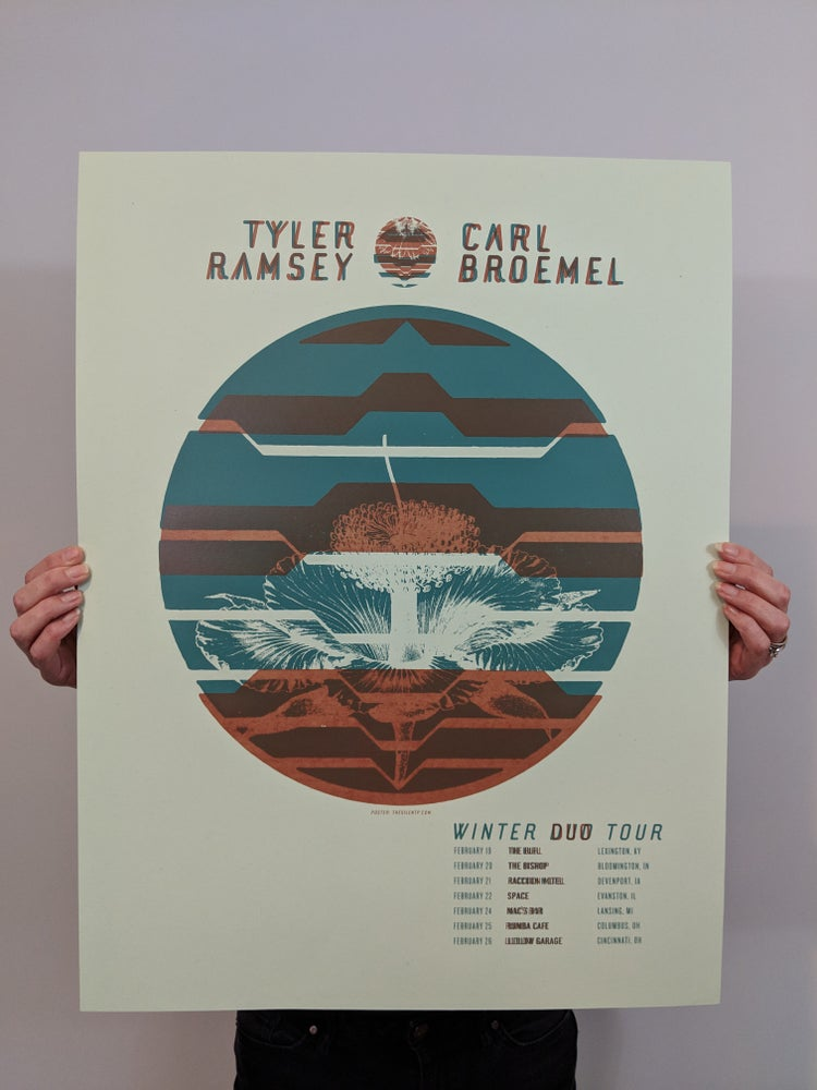 Image of Tyler Ramsey and Carl Broemel Tour Poster