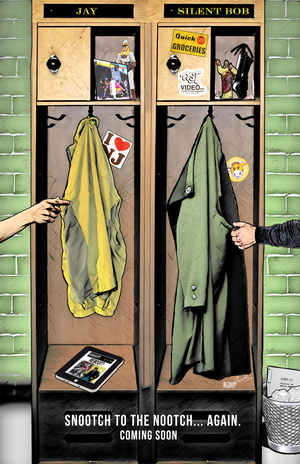 """JAY AND SILENT BOB REBOOT - 11x17"""" Teaser Poster Signed by Nate Gonzales"""