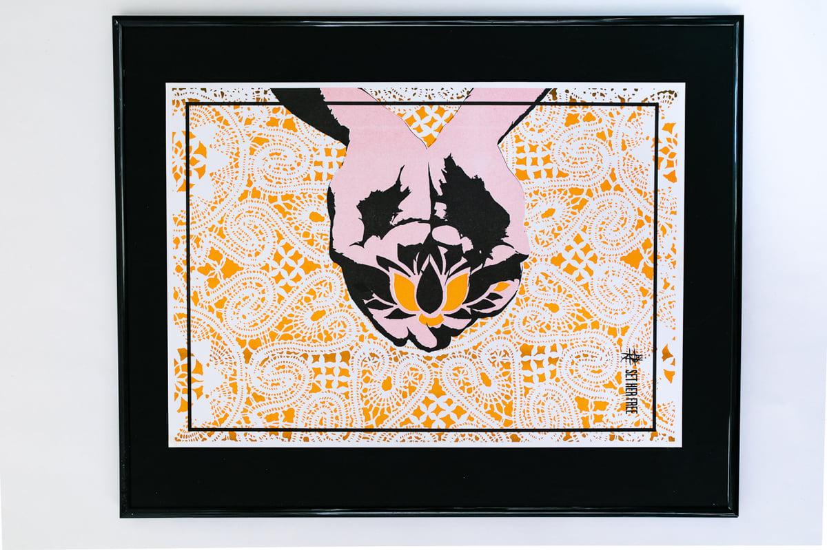 Image of Dance For Refuge x Women For Refugee Women Riso Print - Lizy Bending