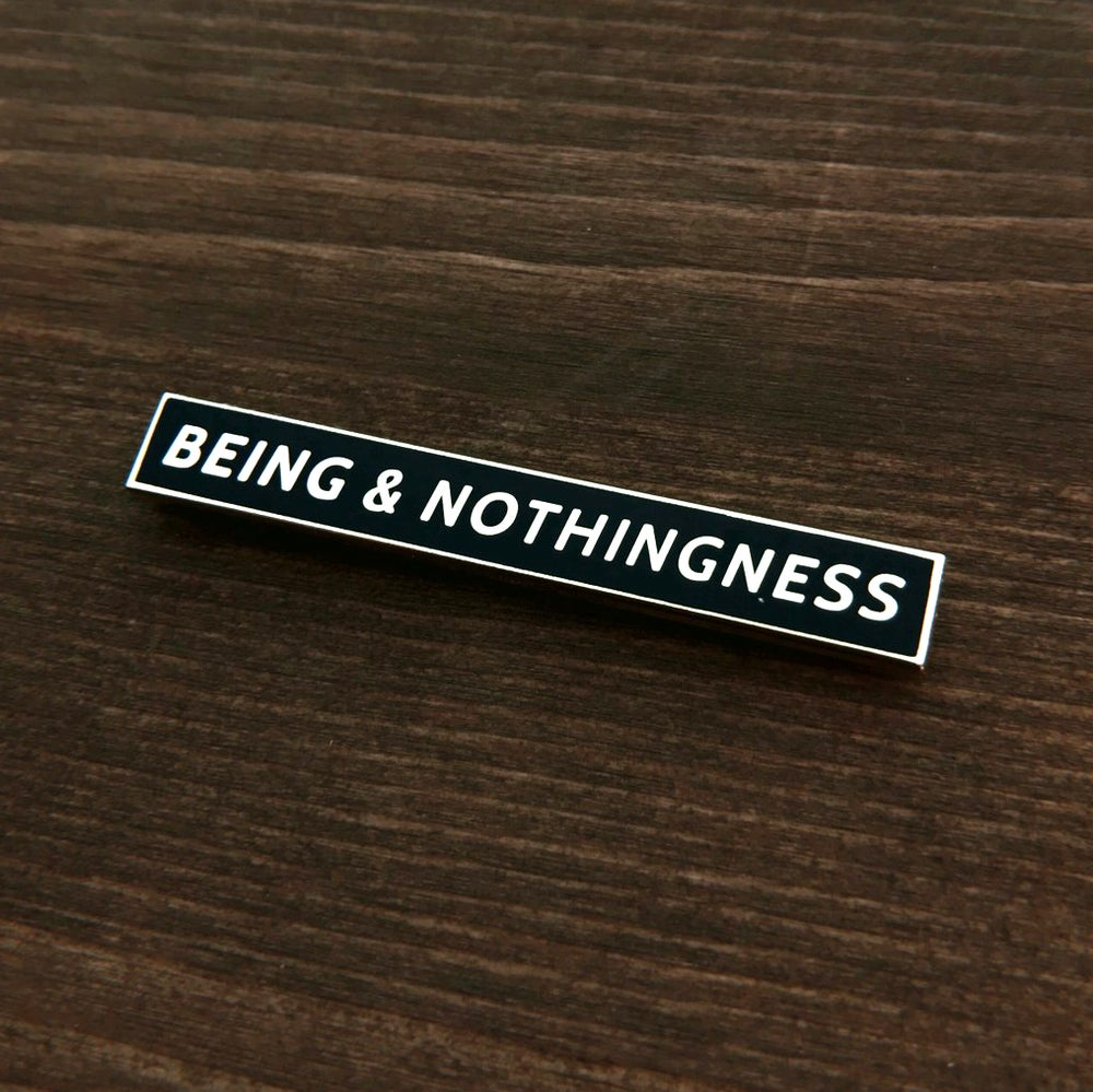 Image of Being and Nothingness Lapel Pin