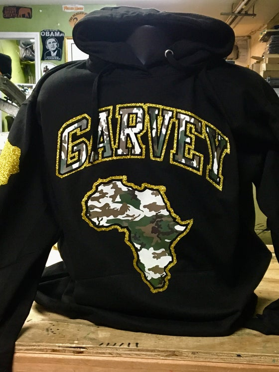 Image of GARVEY CAMO GOLD HOODY