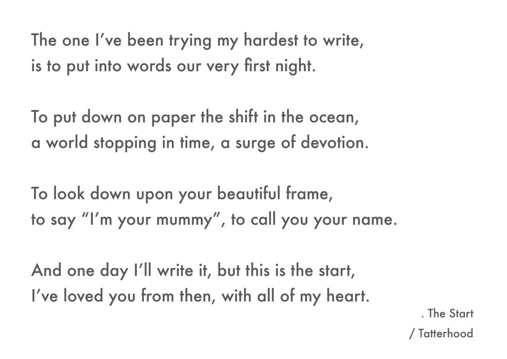 Image of The Start - A3 heavyweight poem print on premium 300gsm white recycled board