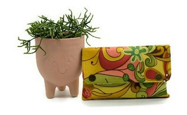 Image of Double Snap Mini Clutch - 'Abstract Floral'