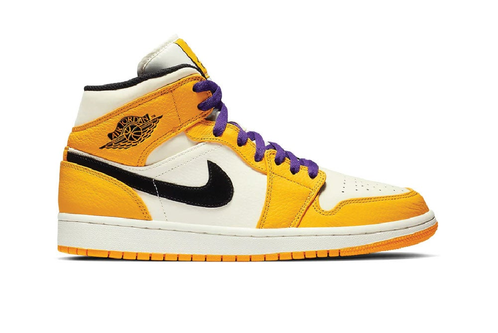 Image of Jordan 1 Mid SE Lakers 852542-700
