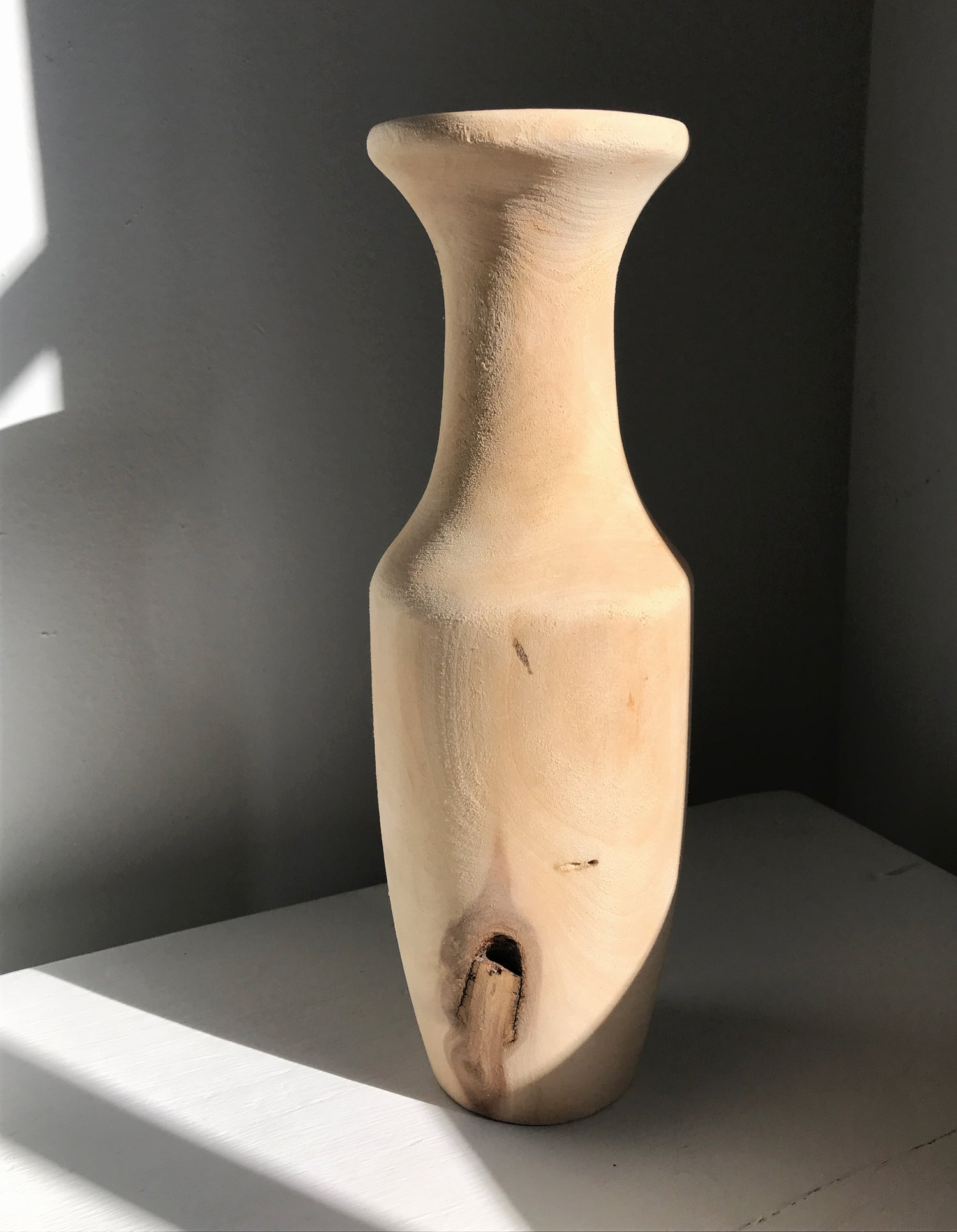 Image of Raw Wooden Vase