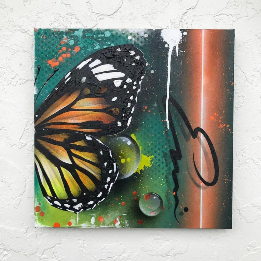 """Image of """"EMERGE"""" ORIGINAL/ HAND PAINTED ORIGINAL CANVAS PAINTING 20x20in"""
