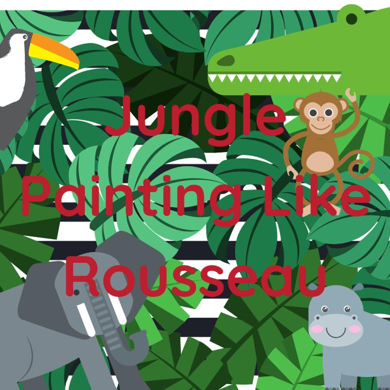 Image of Jungle painting like Rousseau Multiple Dates