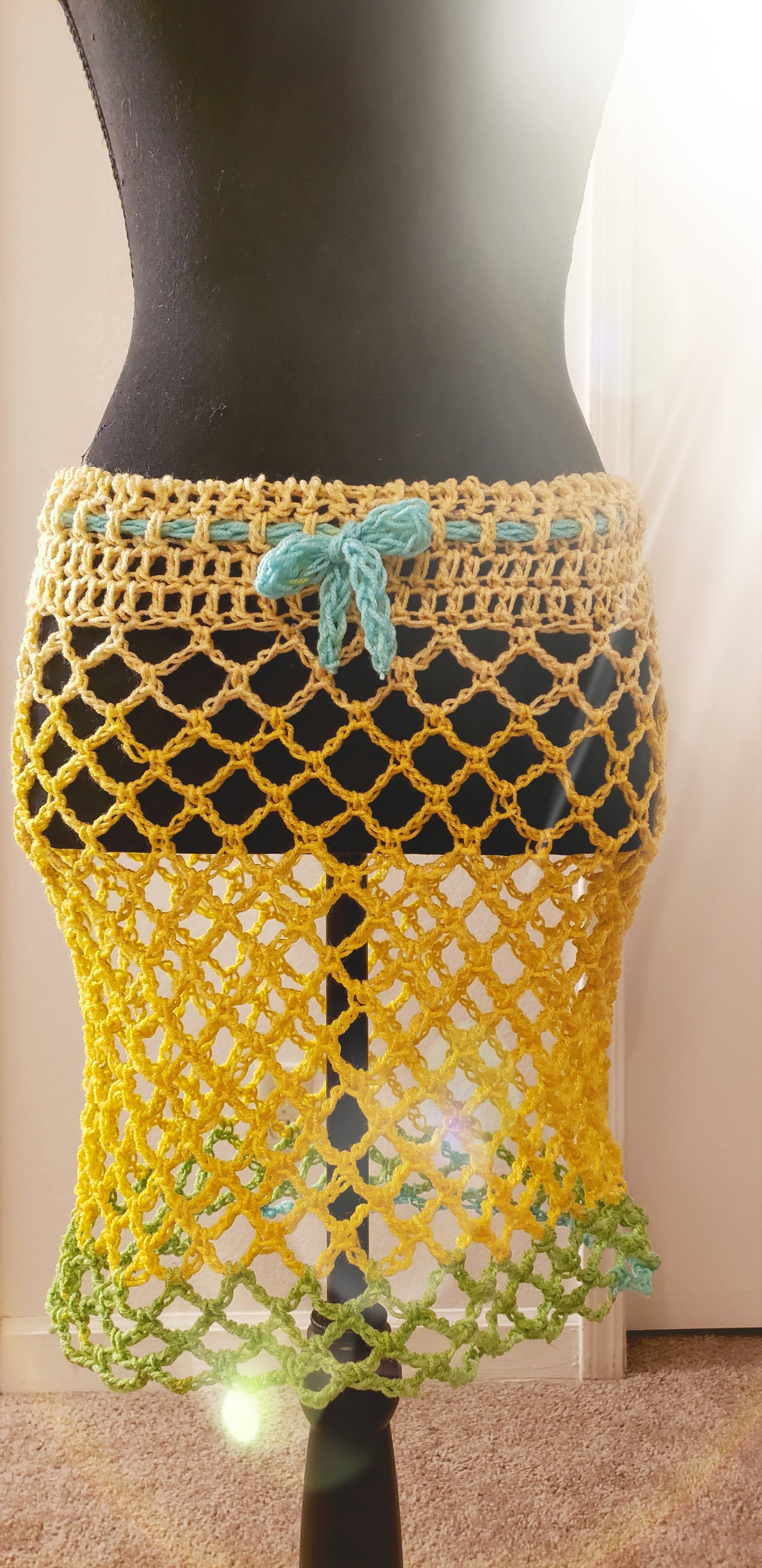 Image of Peekaboo Mini-Skirt Coverup