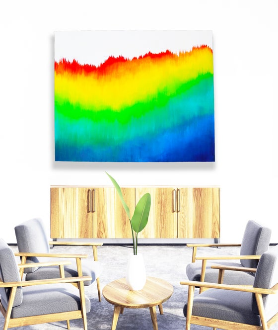 Image of READY to SHIP NOW | 'RAINBOW REVEALED' | Original Painting | Colorful Painting | Rainbow Art