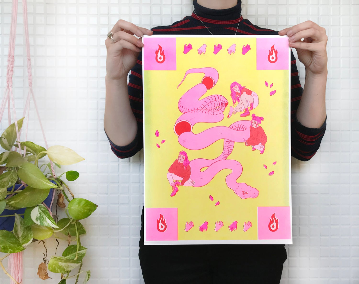 Image of Ophidia 1 — Risograph Print