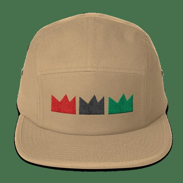 Image of RGB Tres CROWN (5 panel khaki cap)