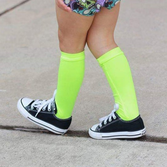 Image of Neon Lime Knee-Highs