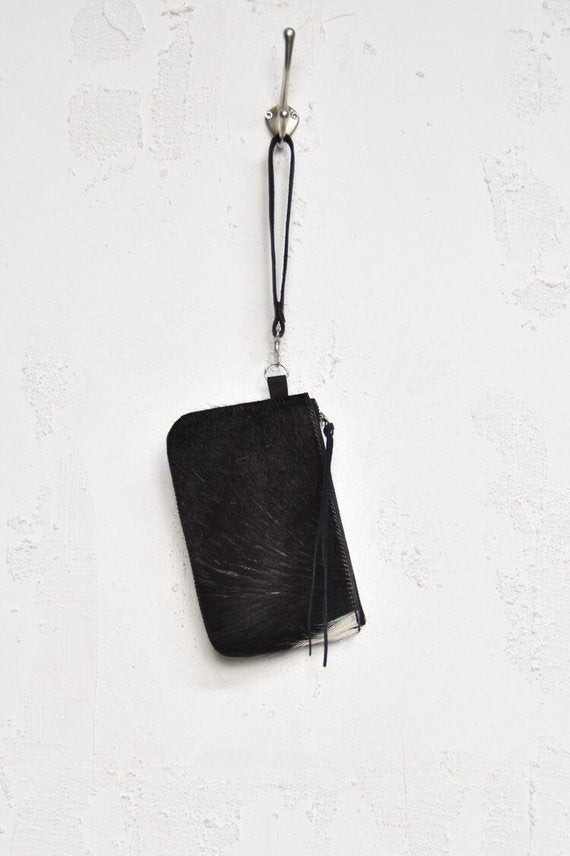 Image of Black Cowhide Etui with a hint of white