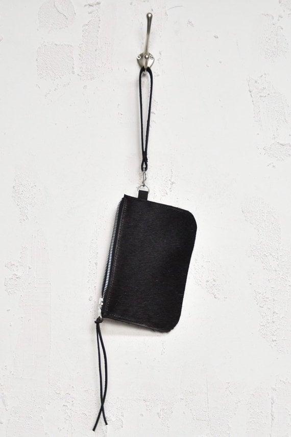 Image of All Black Cowhide Etui with YKK metal Zip