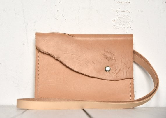 Image of Zero Waste Leather Crossbody Bag, Small Vegtan Handbag