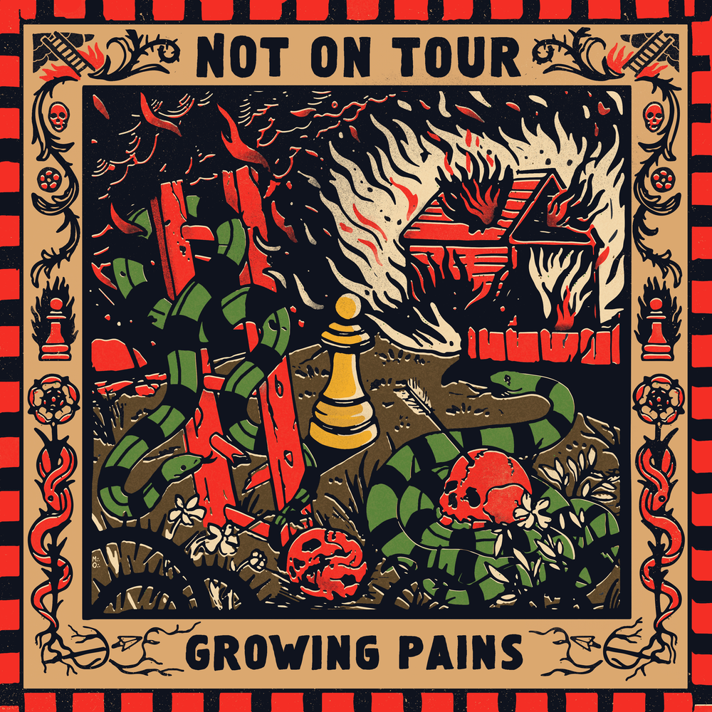 "Image of LADV120 - NOT ON TOUR ""growing pains"" LP"