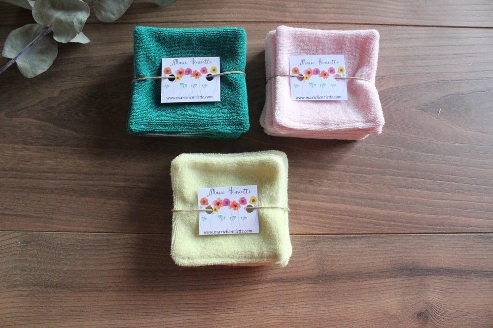 Image of Cotons lavables bio - Micro-éponge et flanelle