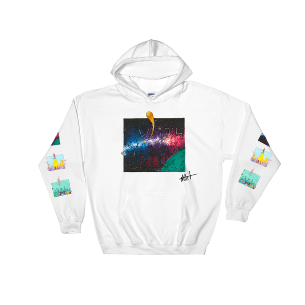 Image of Journey III Hoodie White