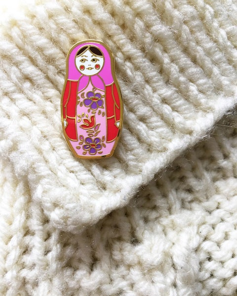 Image of Russian Doll Pin