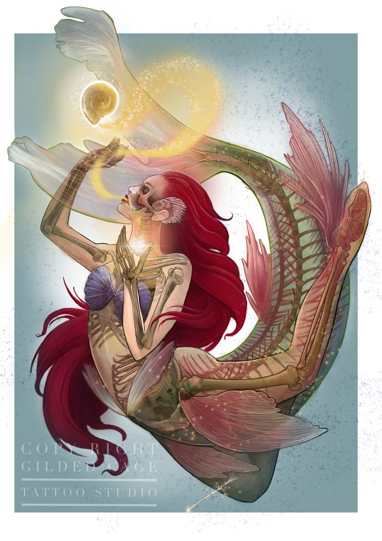 Image of Transformation of Ariel (the little Mermaid)